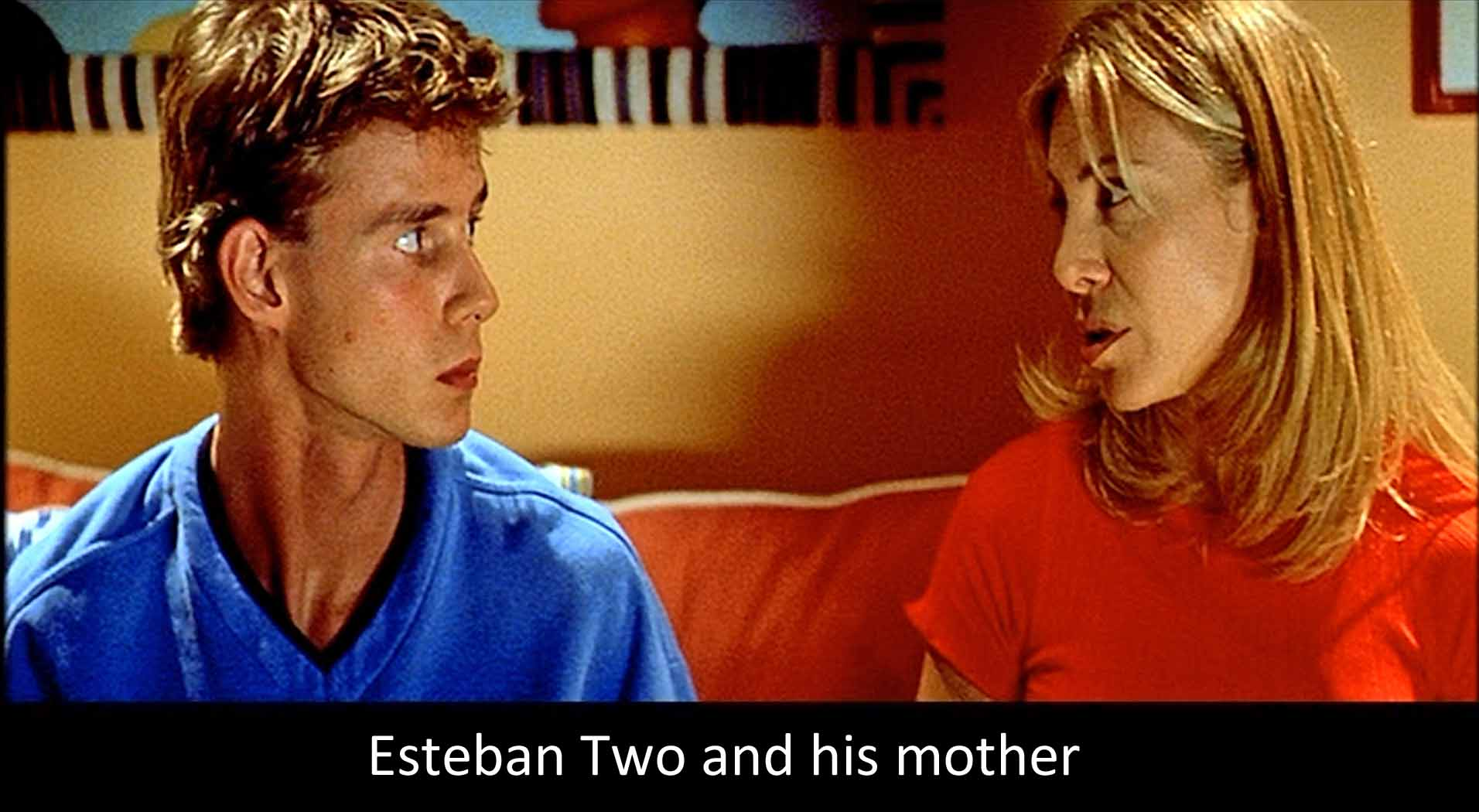 Esteban Two and his mother