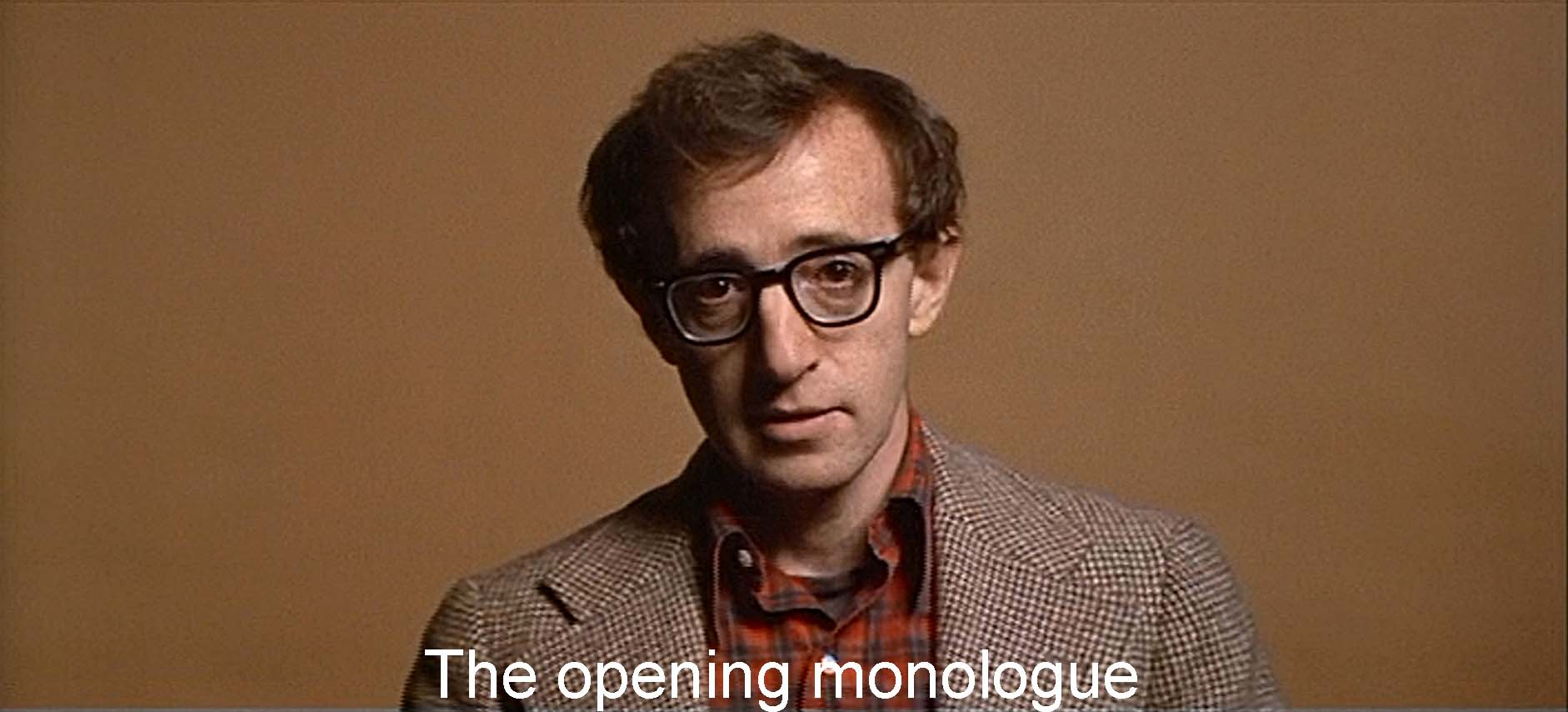 Alvy's opening monologue