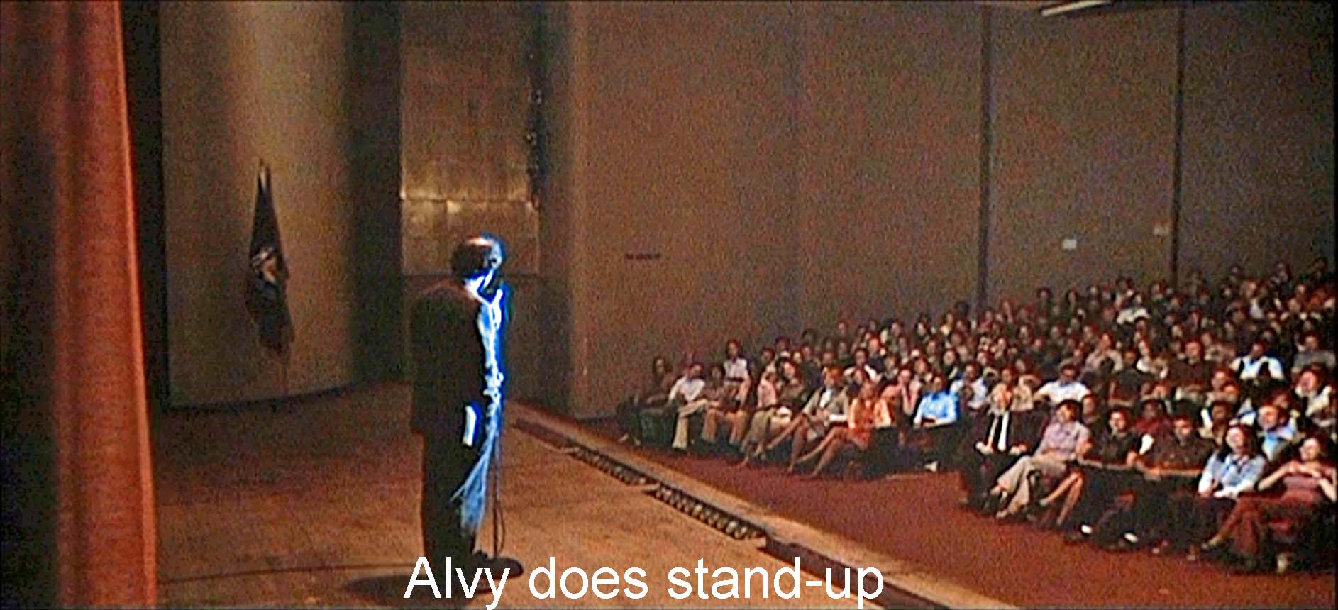 Alvy does stand-up