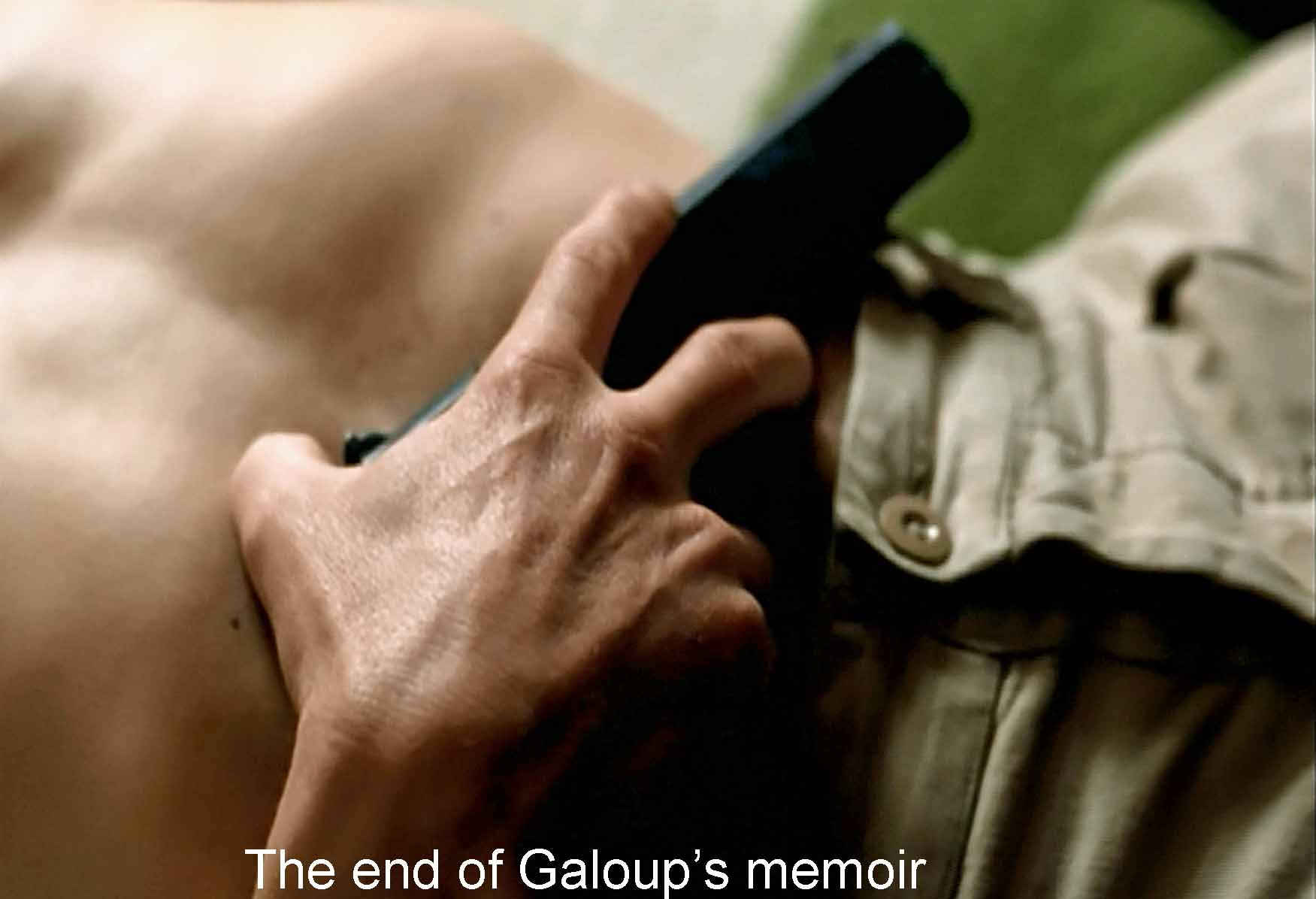 The end of Galoup's memoir