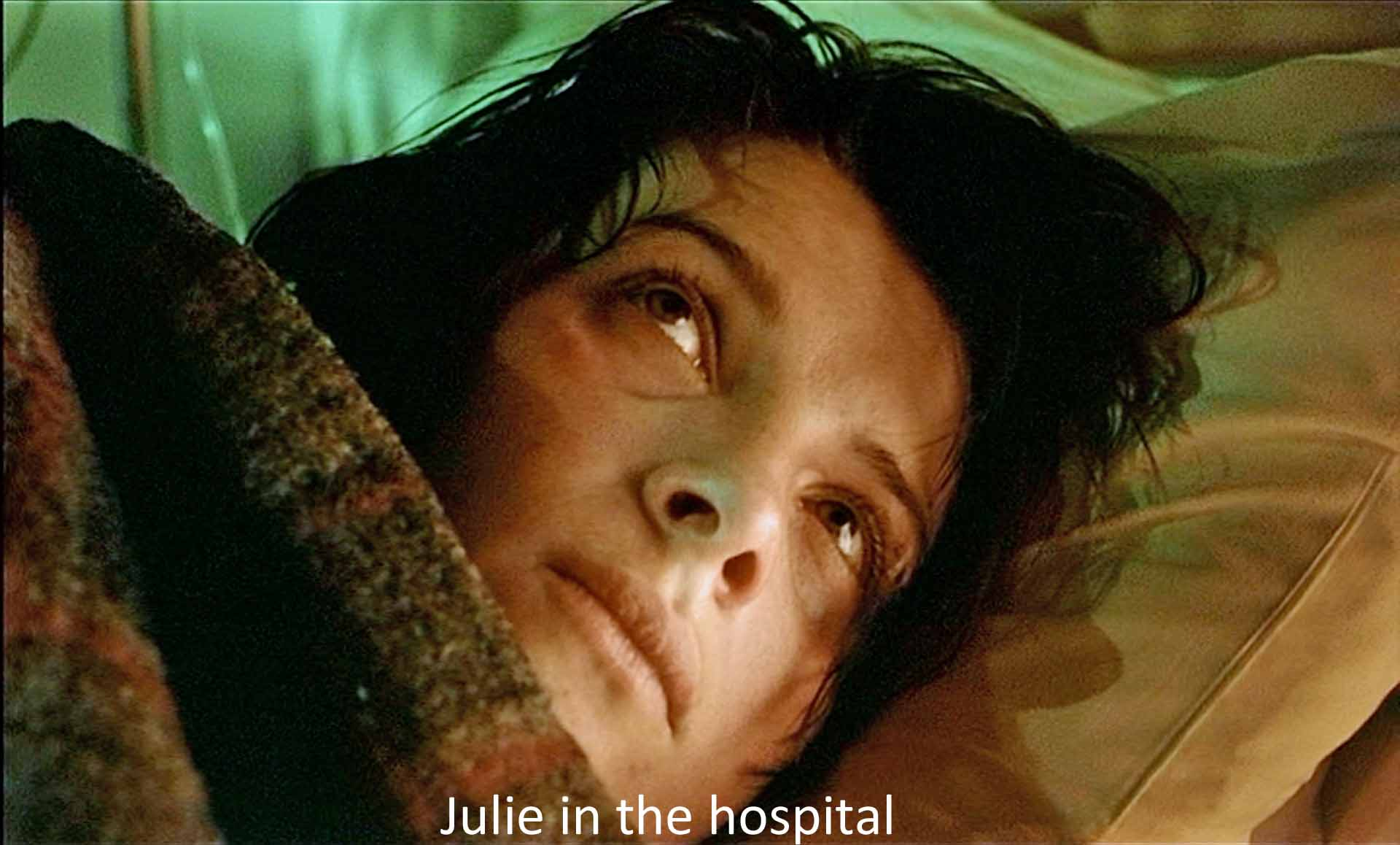 Julie in the hospital