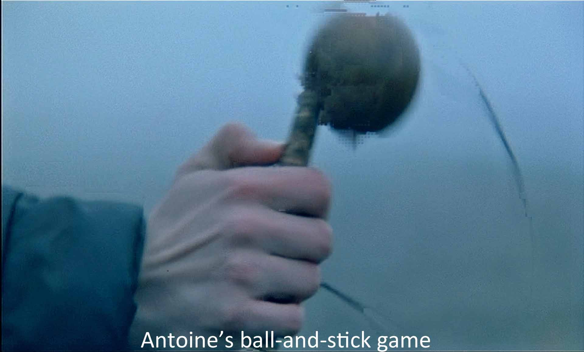 Antoine's ball-and-stick game