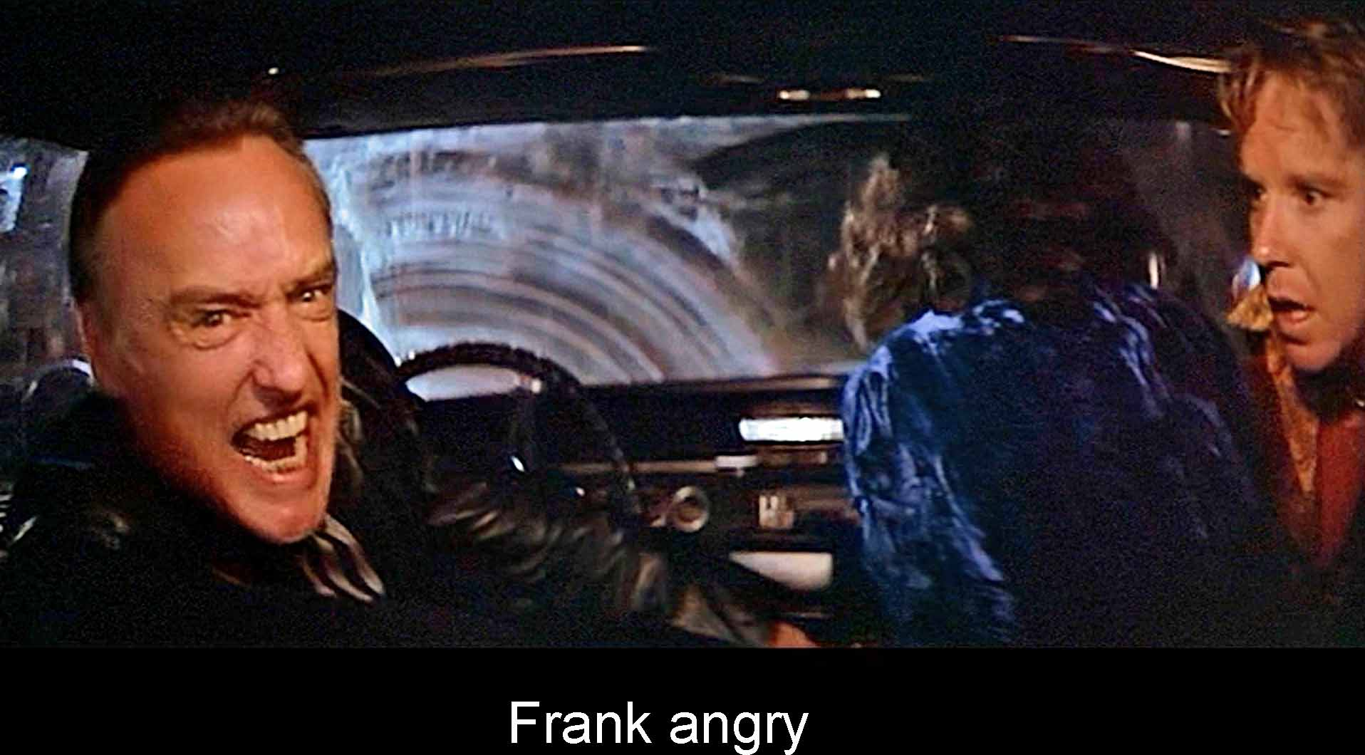 Frank angry