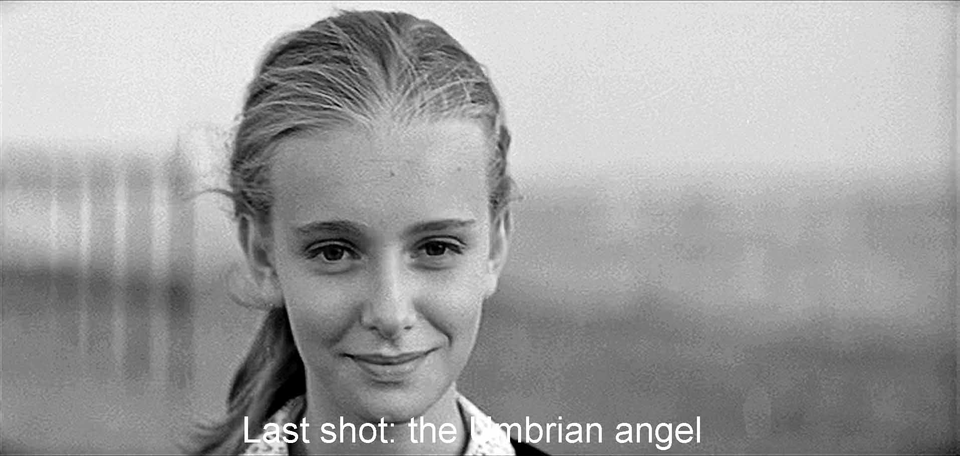 Closing shot: the Umbrian angel