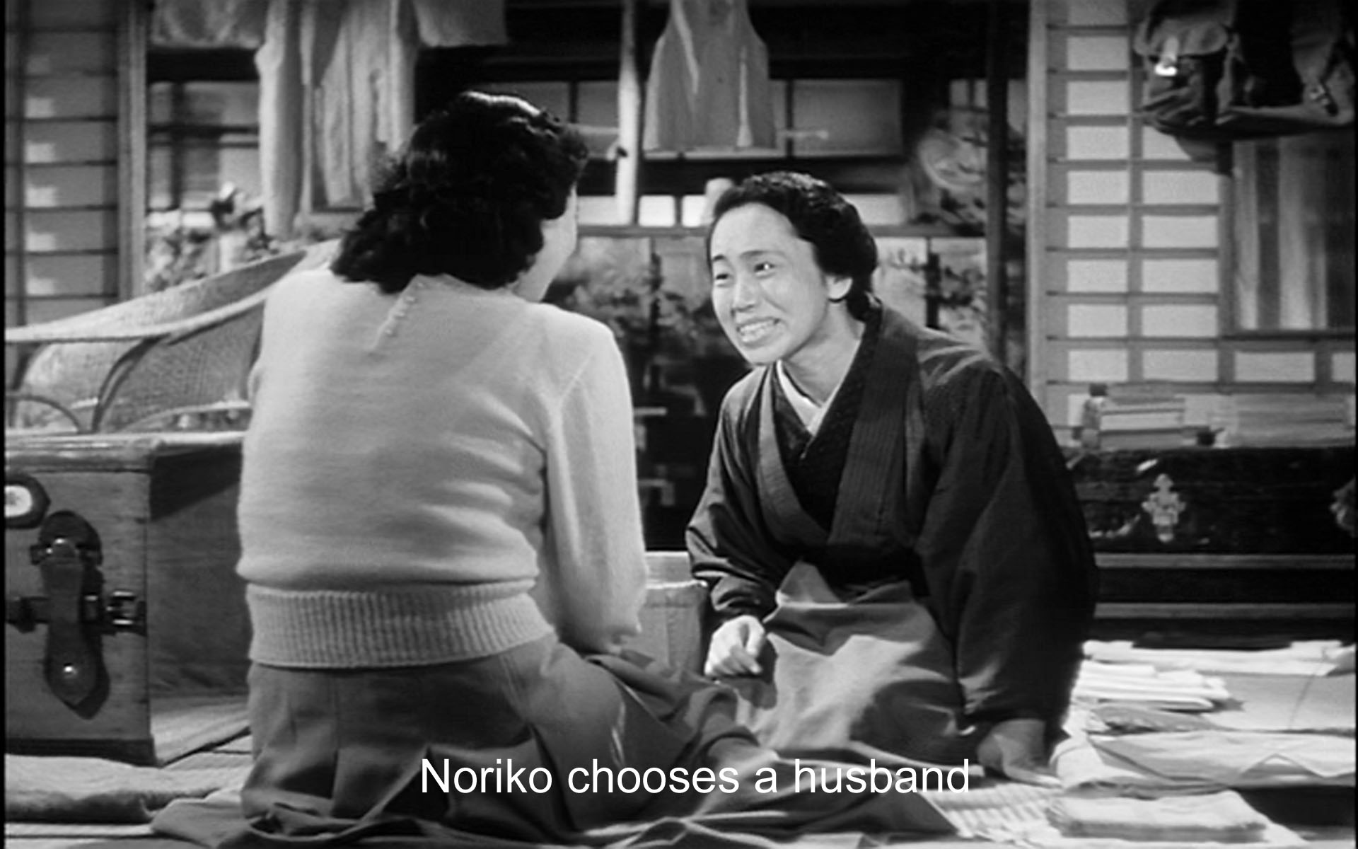 The moment of Noriko's choice