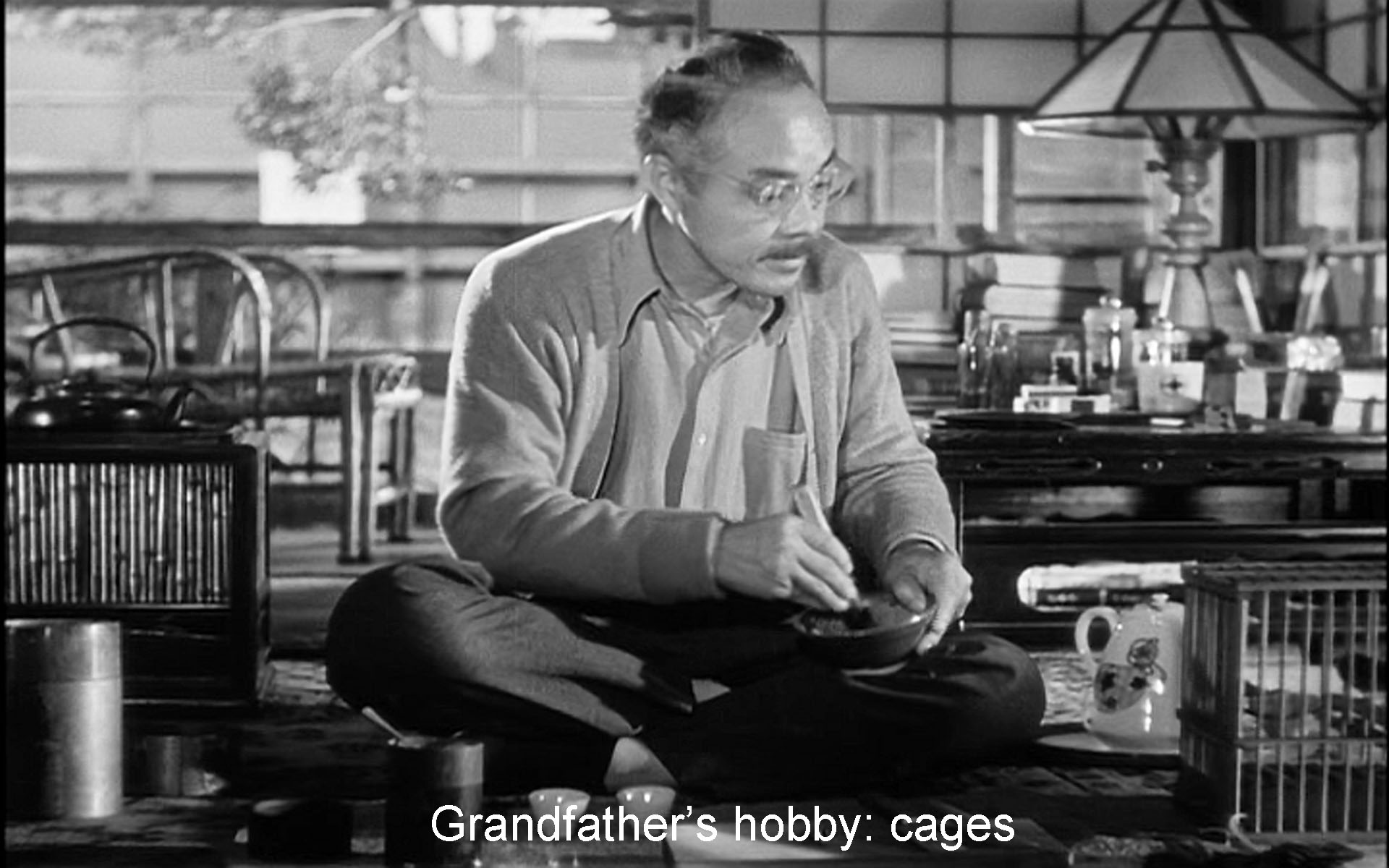 Grandfather's hobby: cages