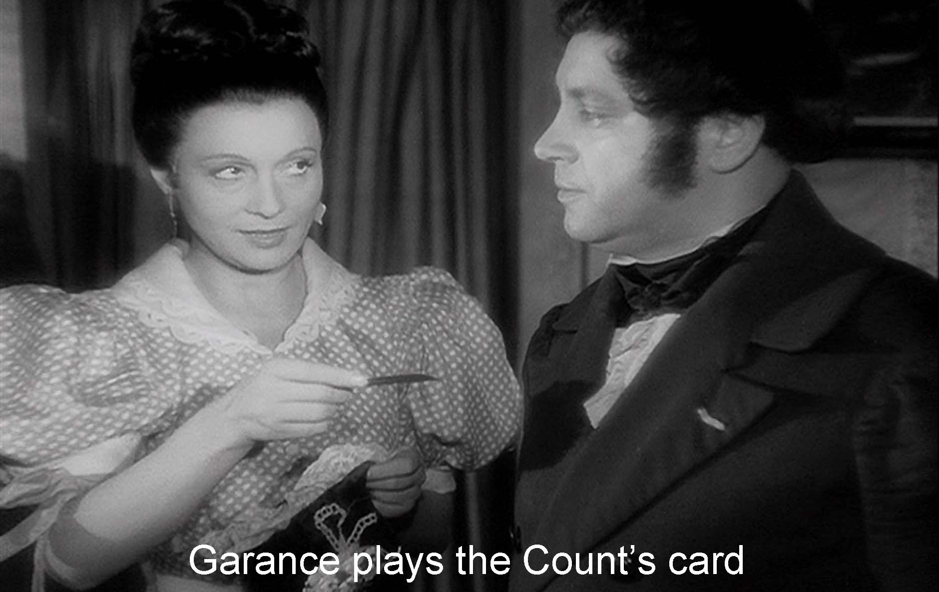 Garance counts on the Count