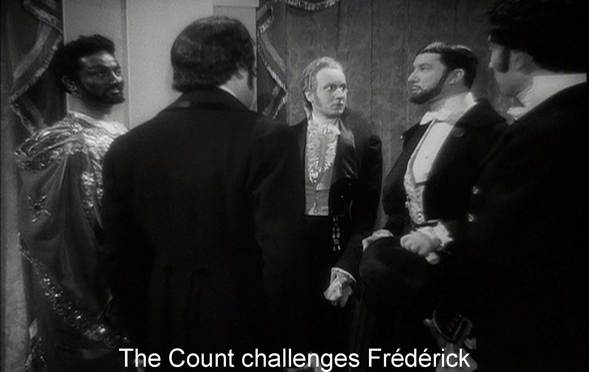 The Count challenges Frédérick