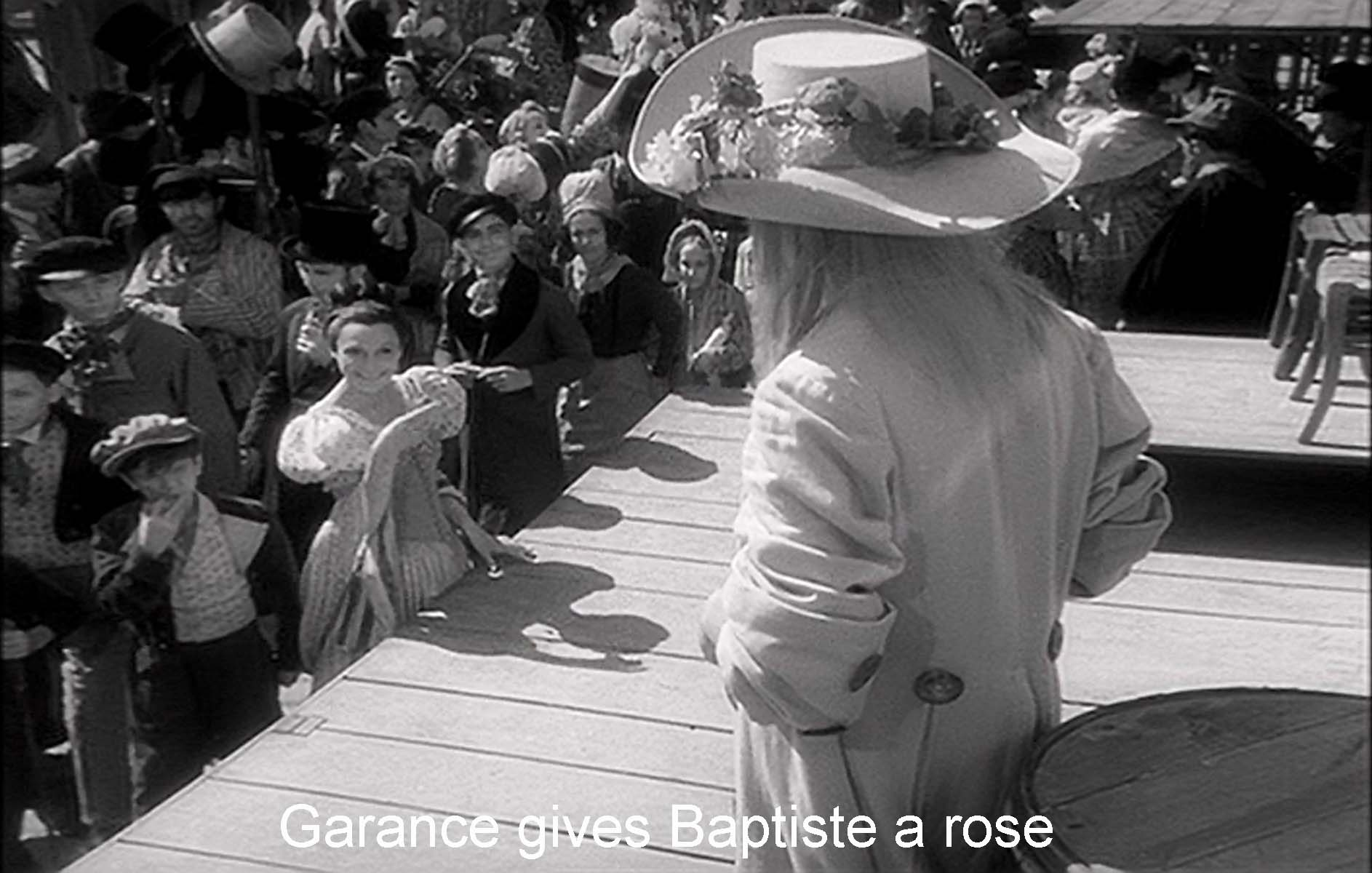 Garance gives Baptiste a rose