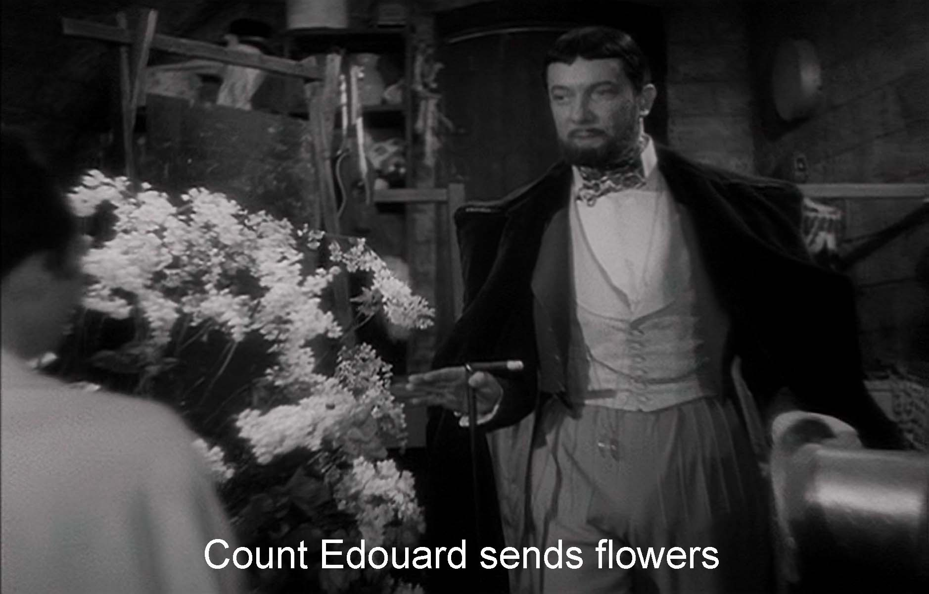 Count Edouard sends flowers