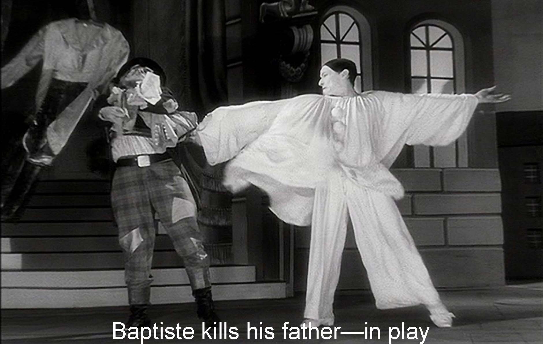 Baptiste kills his father—in play