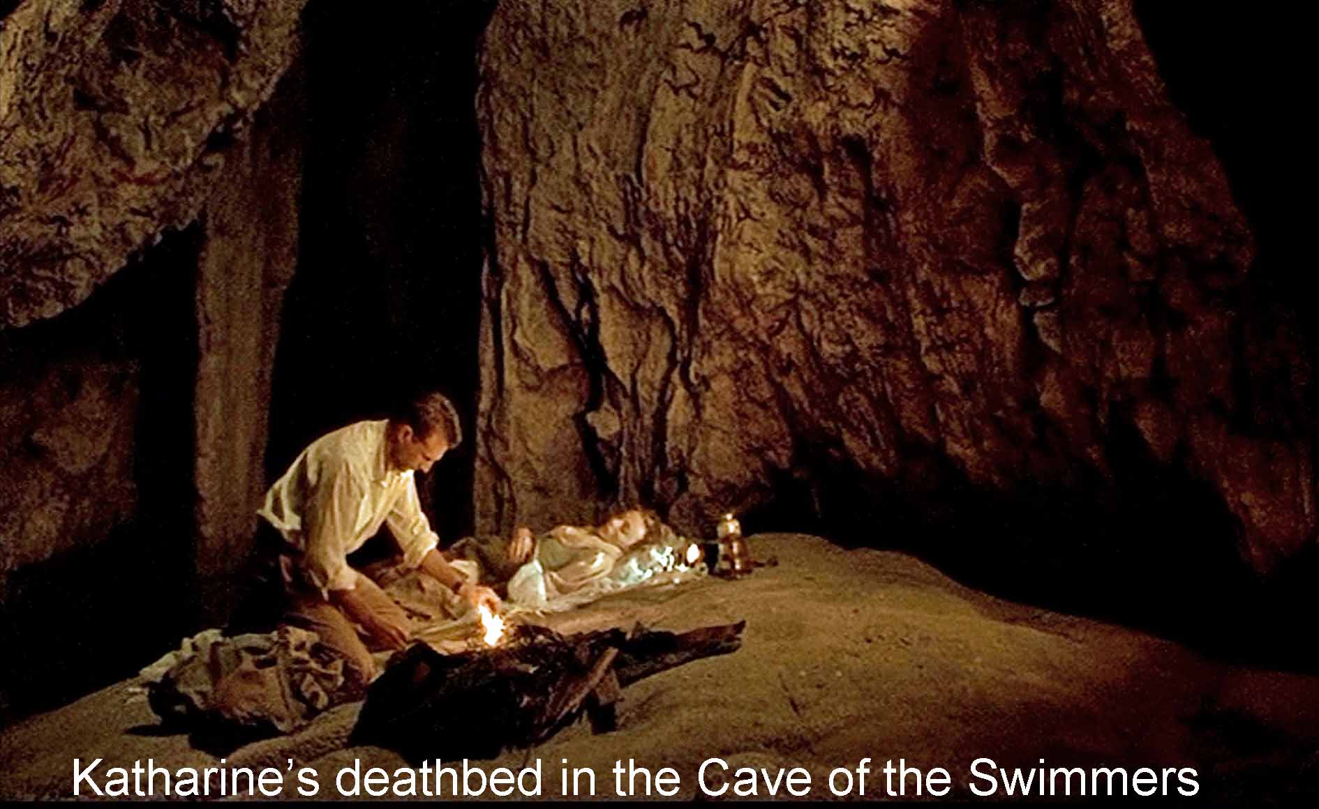 Katharine's deathbed in the Cave of the Swimmers