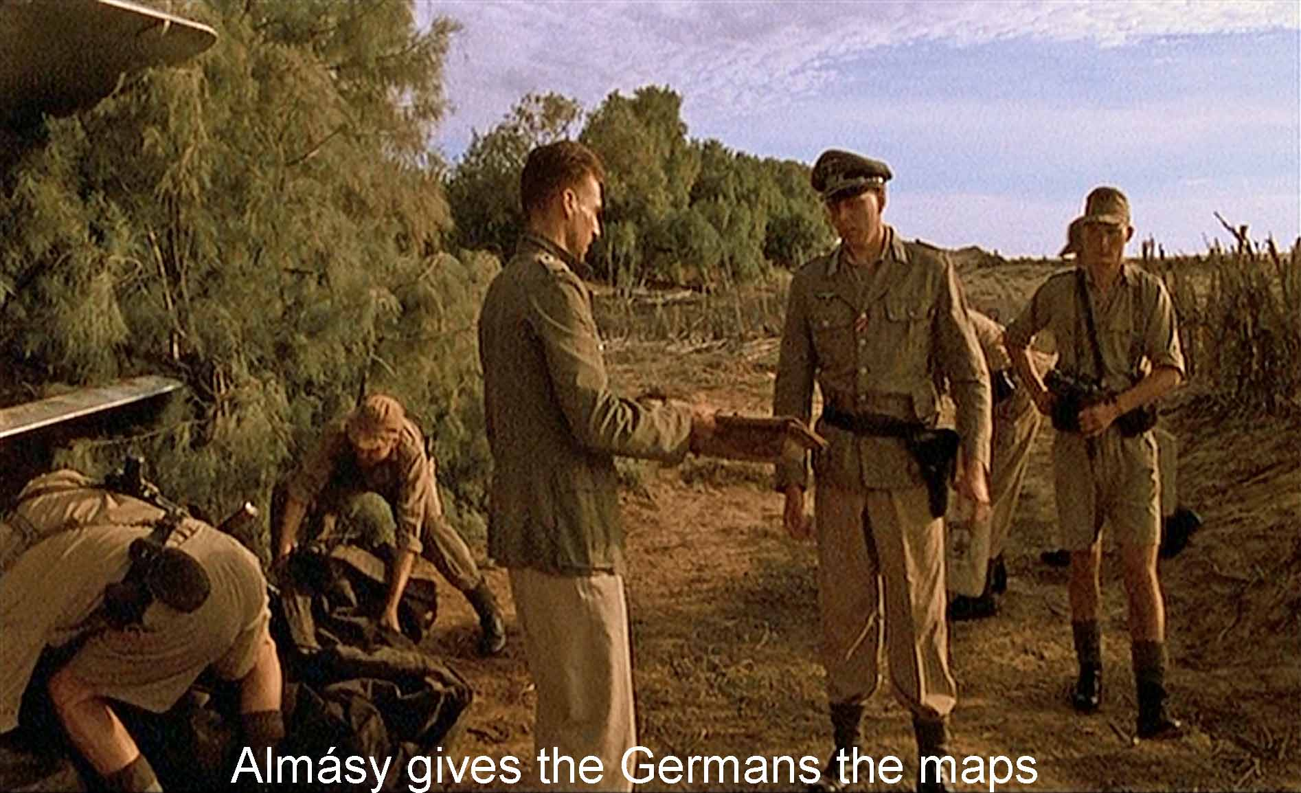 Almásy gives the Germans the maps