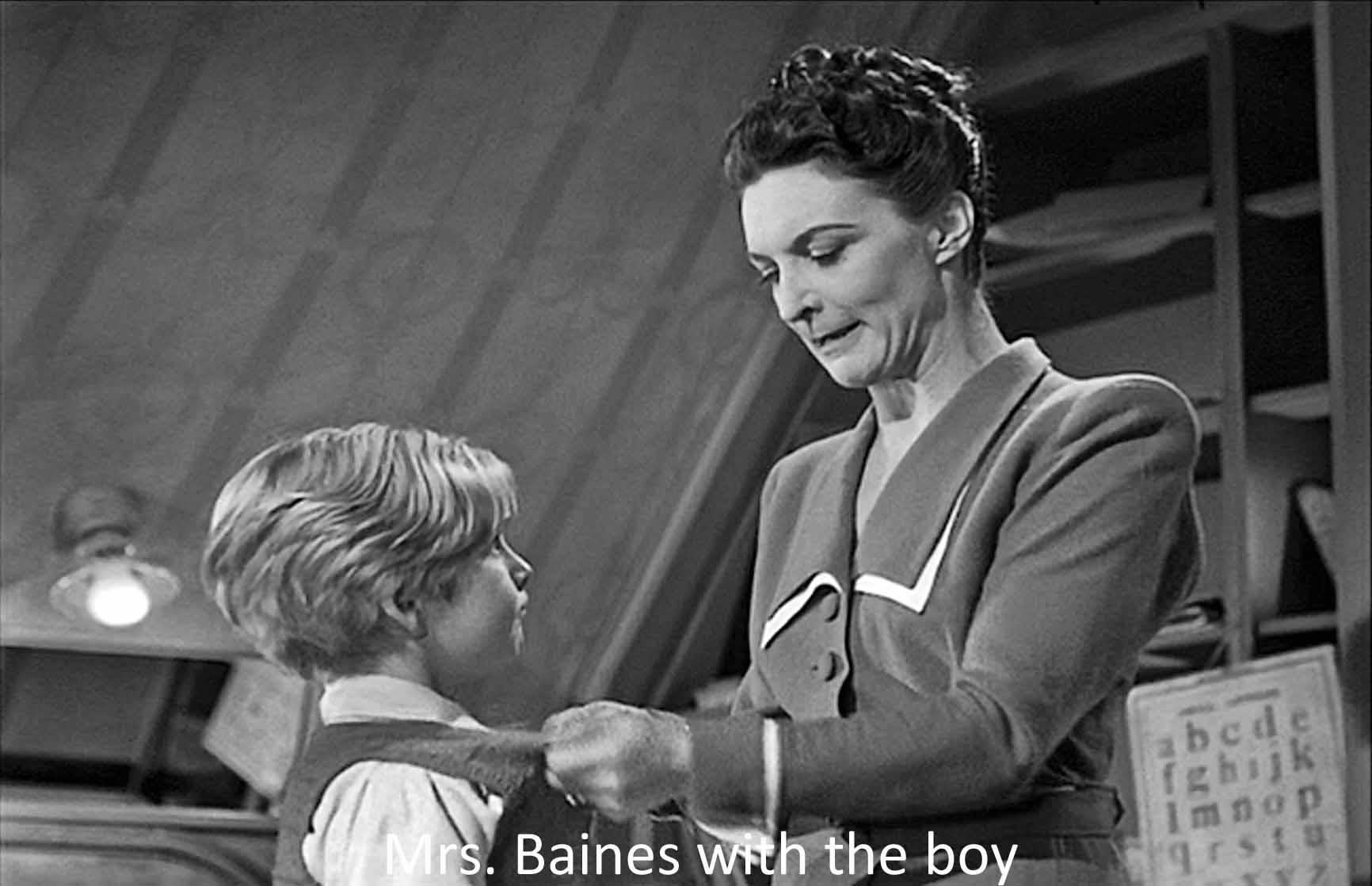Mrs. Baines with the boy