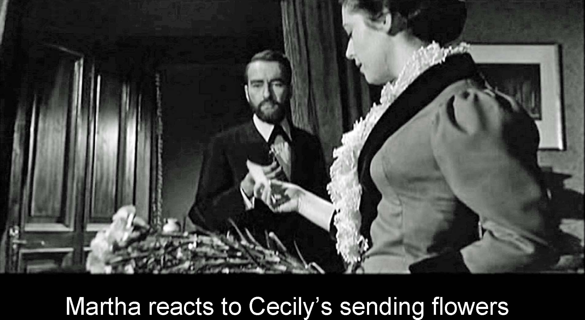 Martha reacts to Cecily's sending flowers