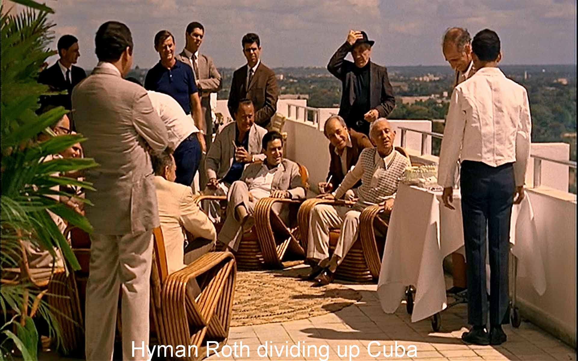 Hyman Roth dividing up Cuba