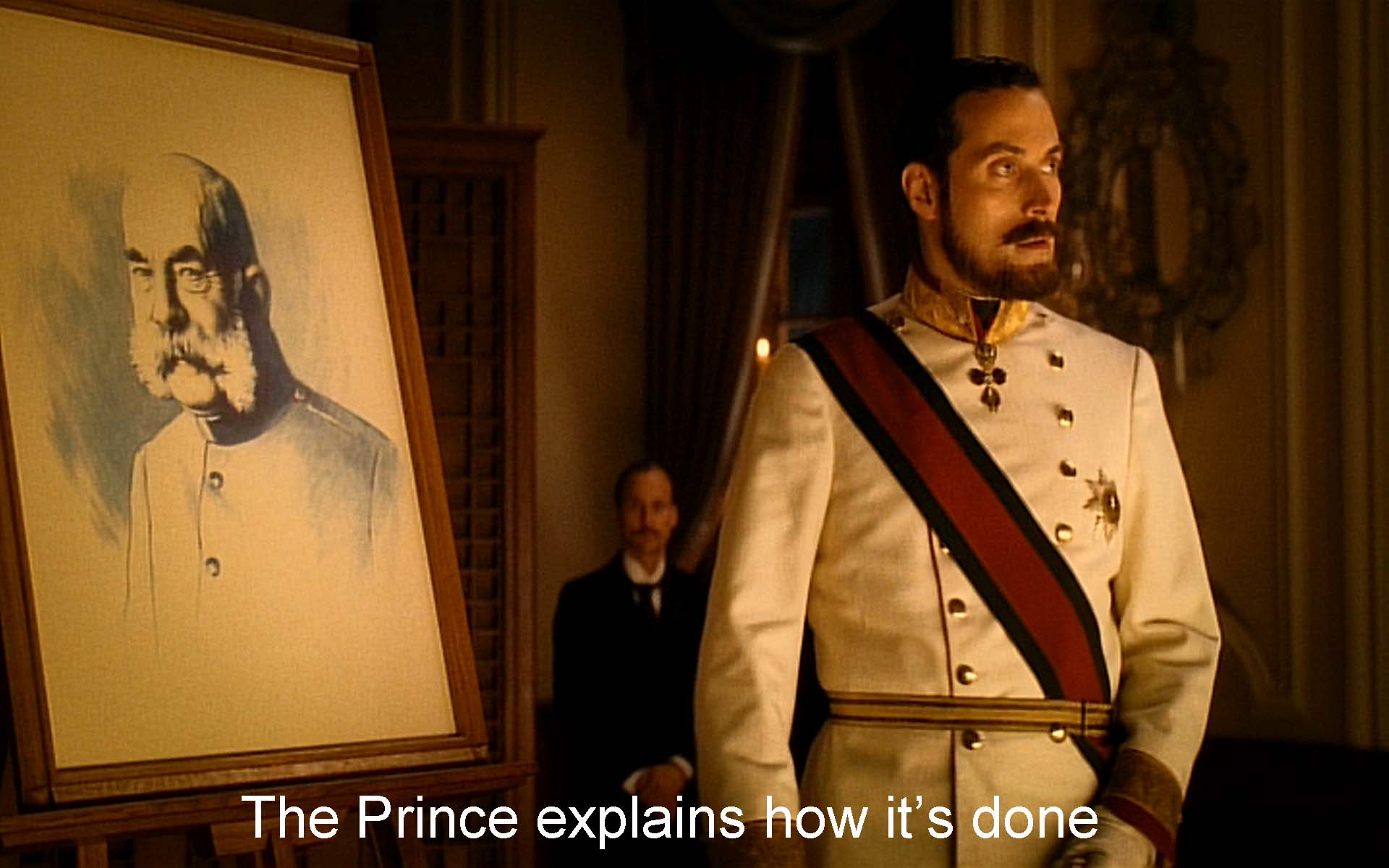 The Prince explains how it's done