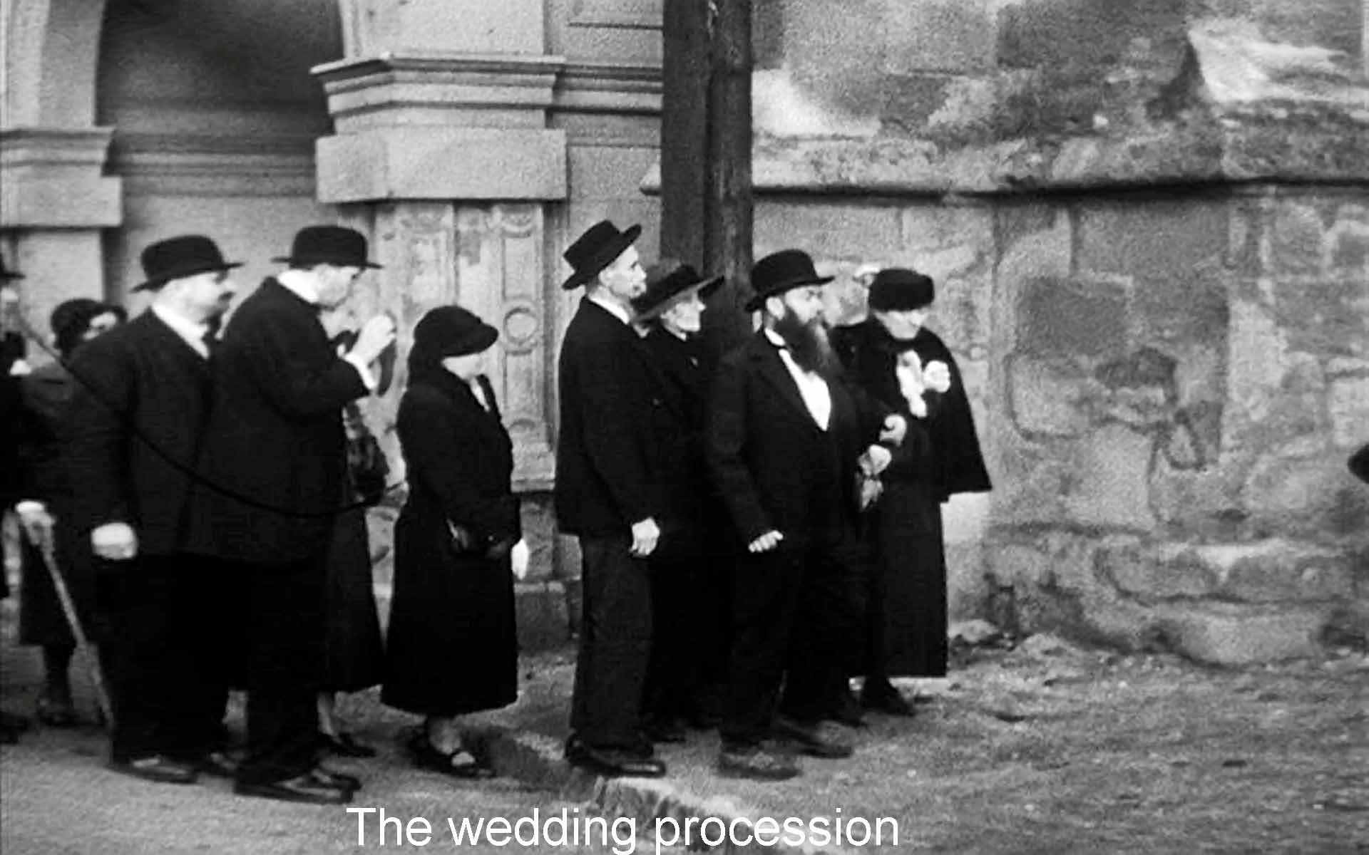 The wedding procession