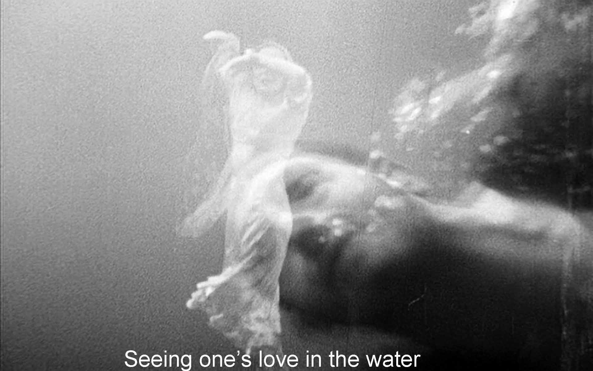 Seeing one's love in the water
