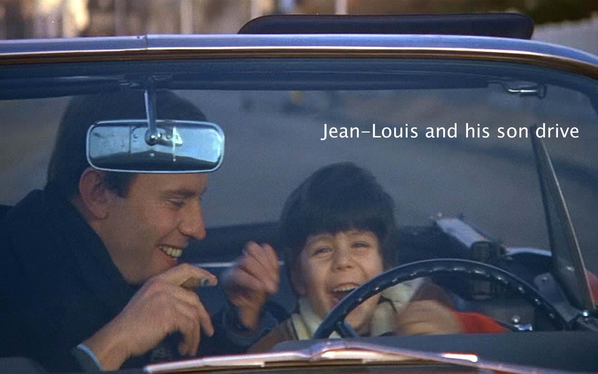 Jean-Louis and his son drive