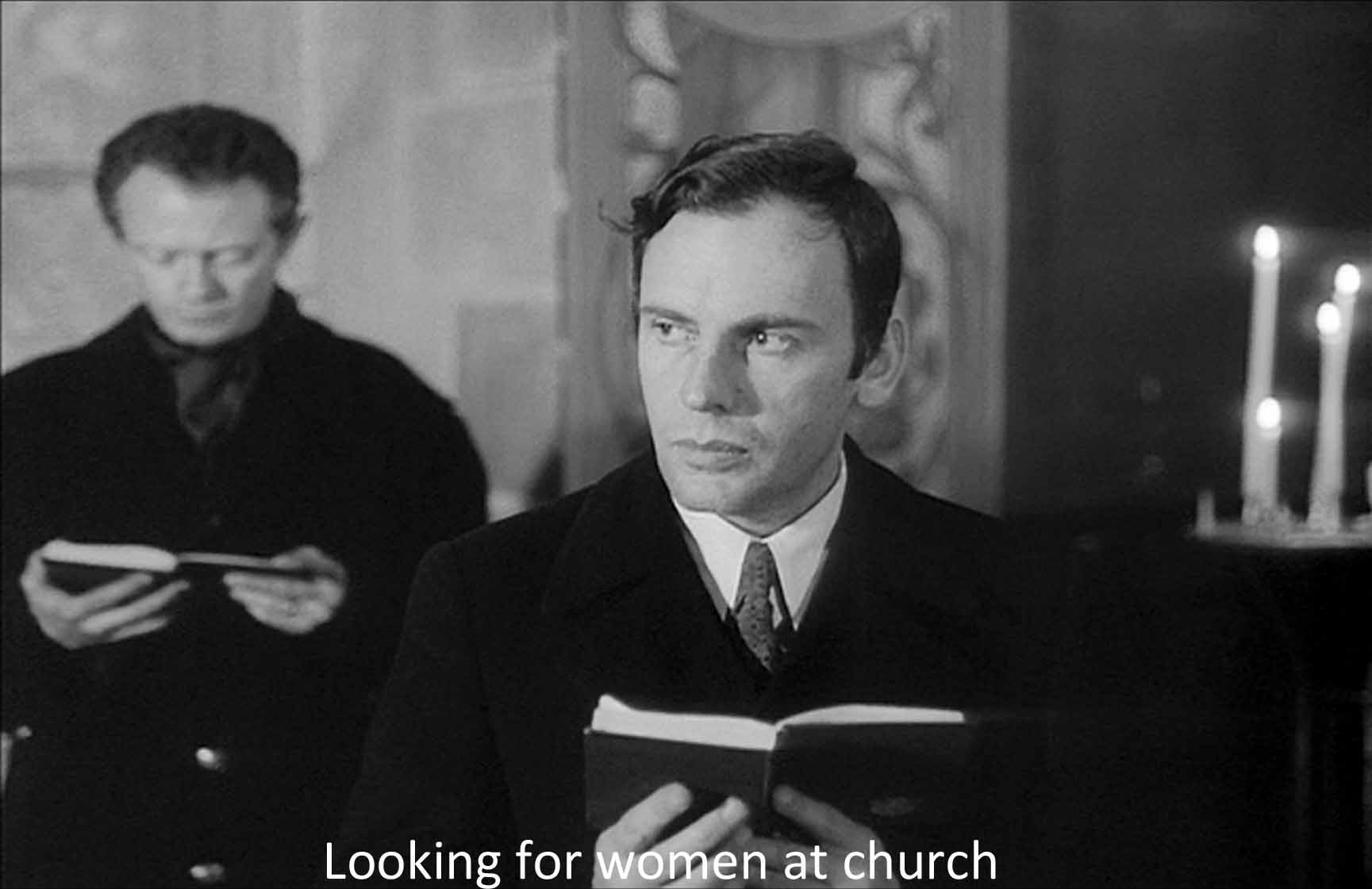 Looking for women at church