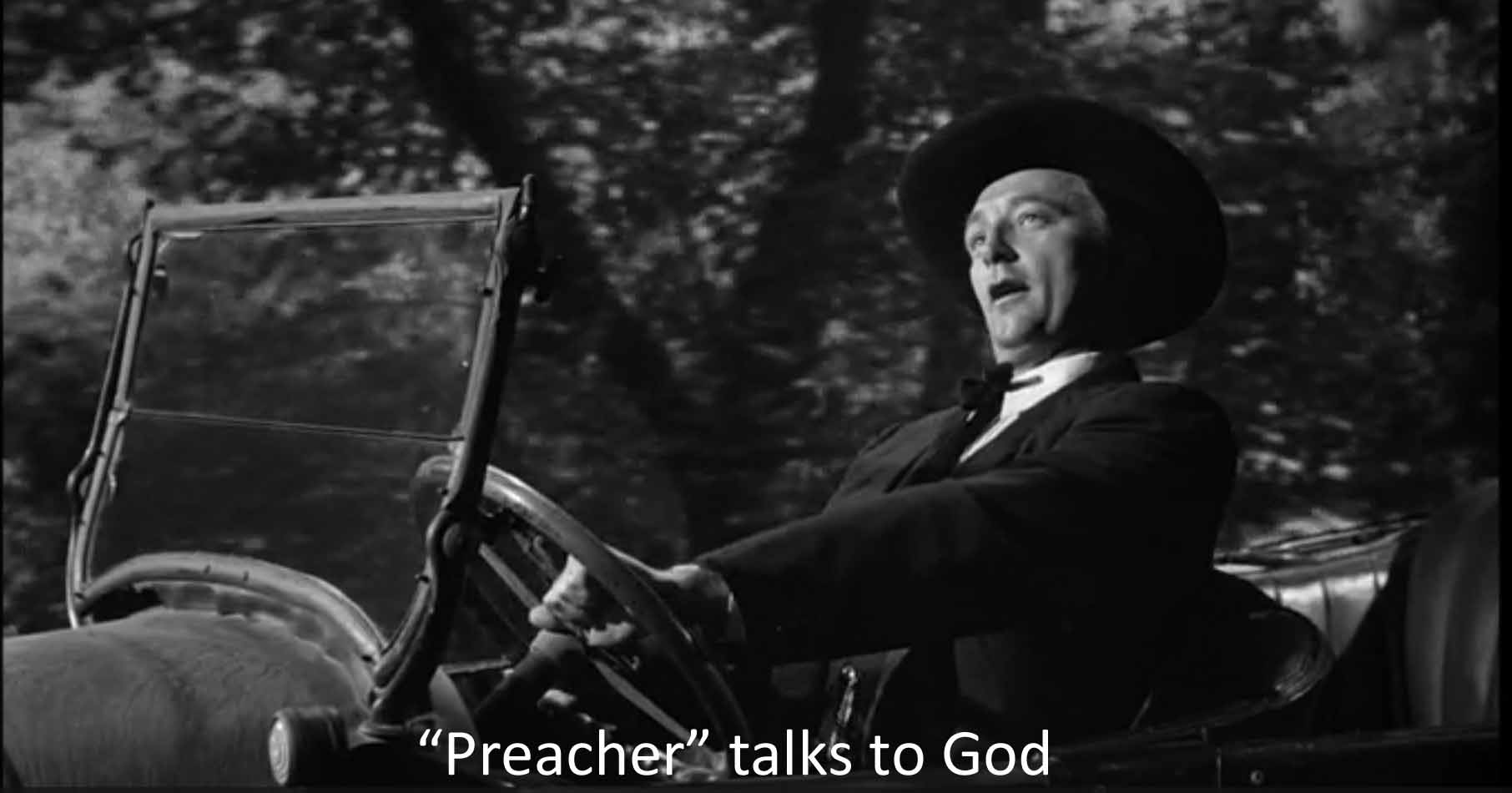 Preacher talks to God