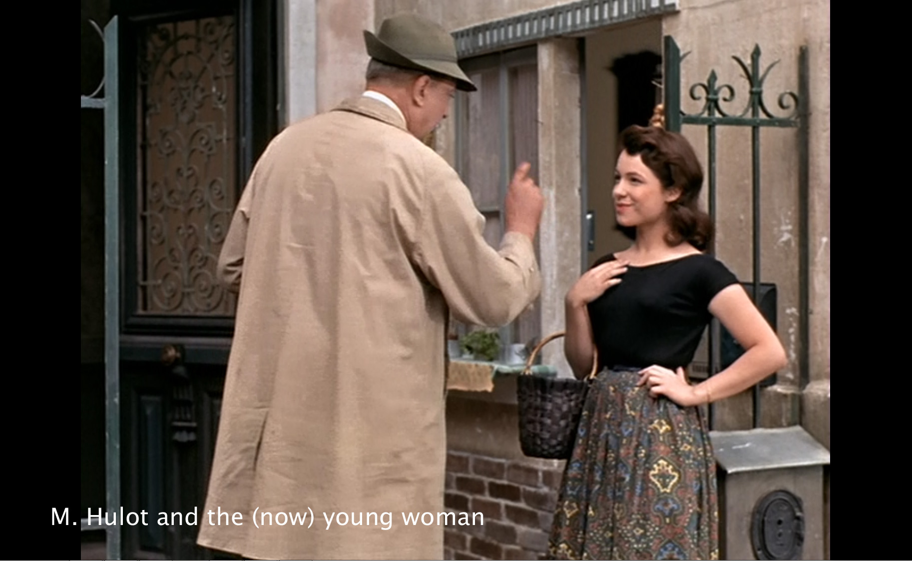 Hulot and the (now) young woman