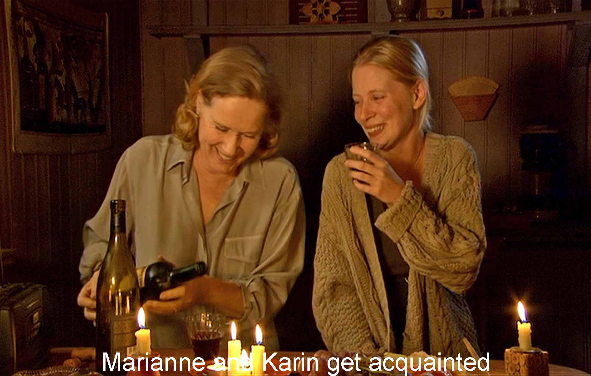 Karin and Marianne get acquainted