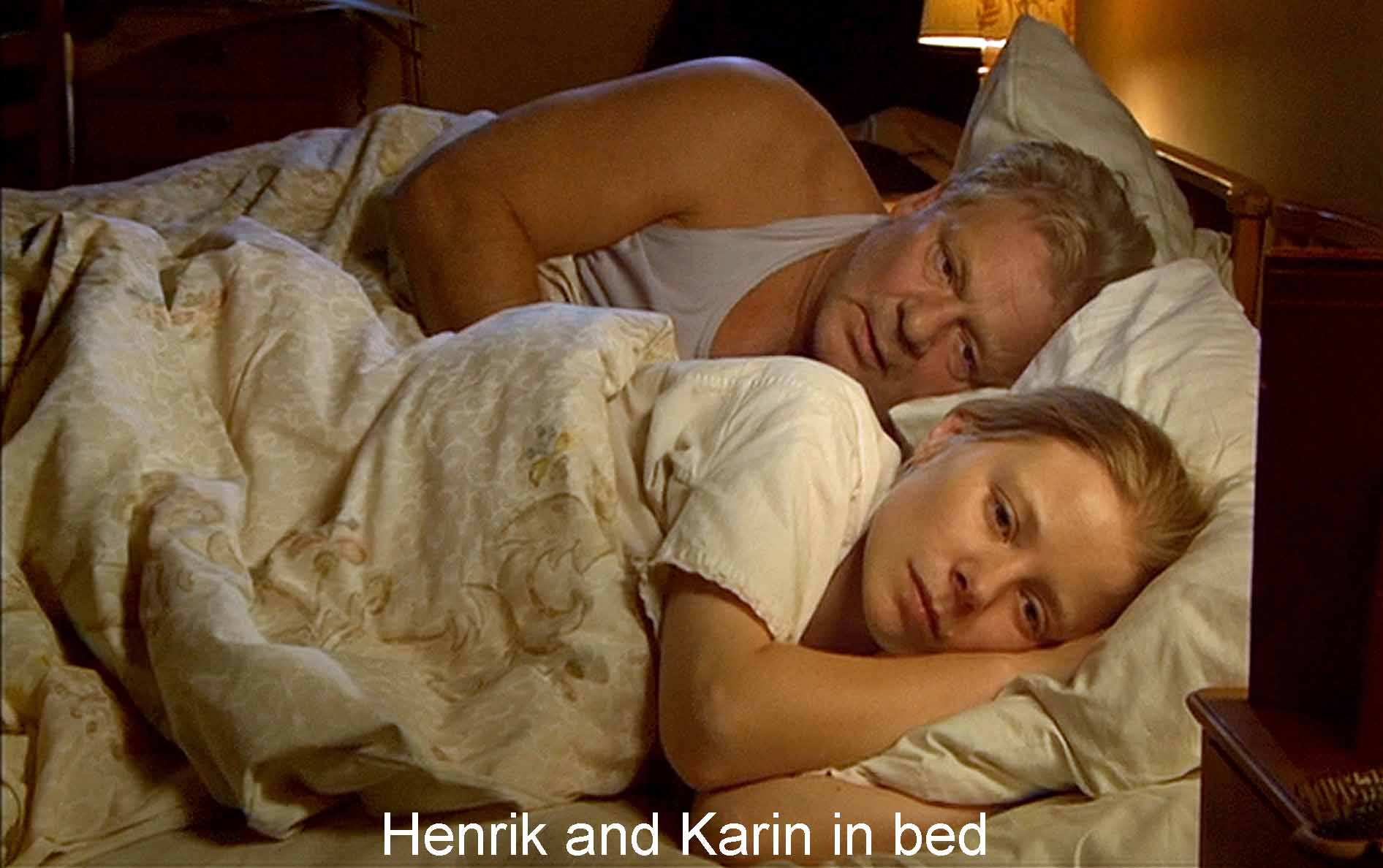Henrik and Karin in bed