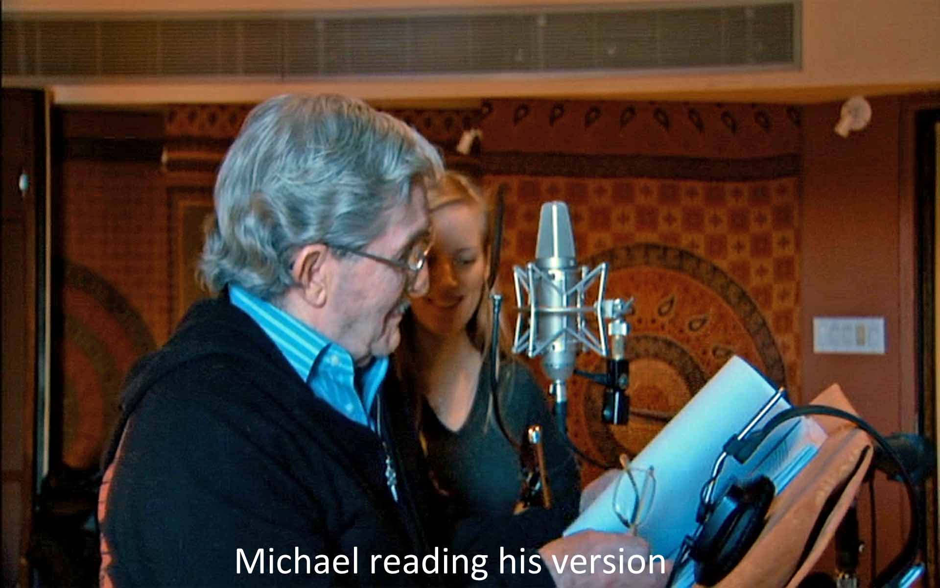 Michael reading his version