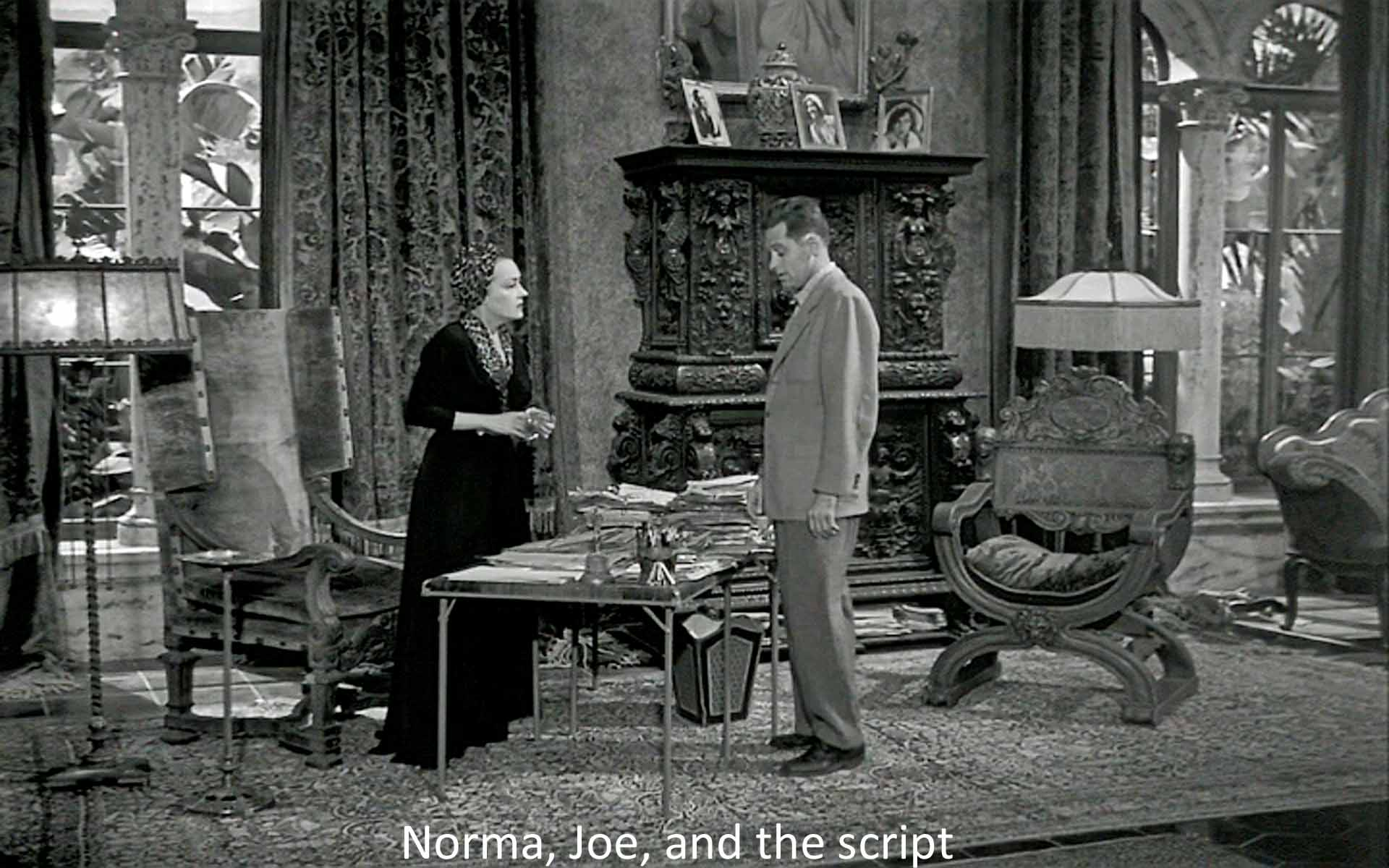Norma, Joe, and the script