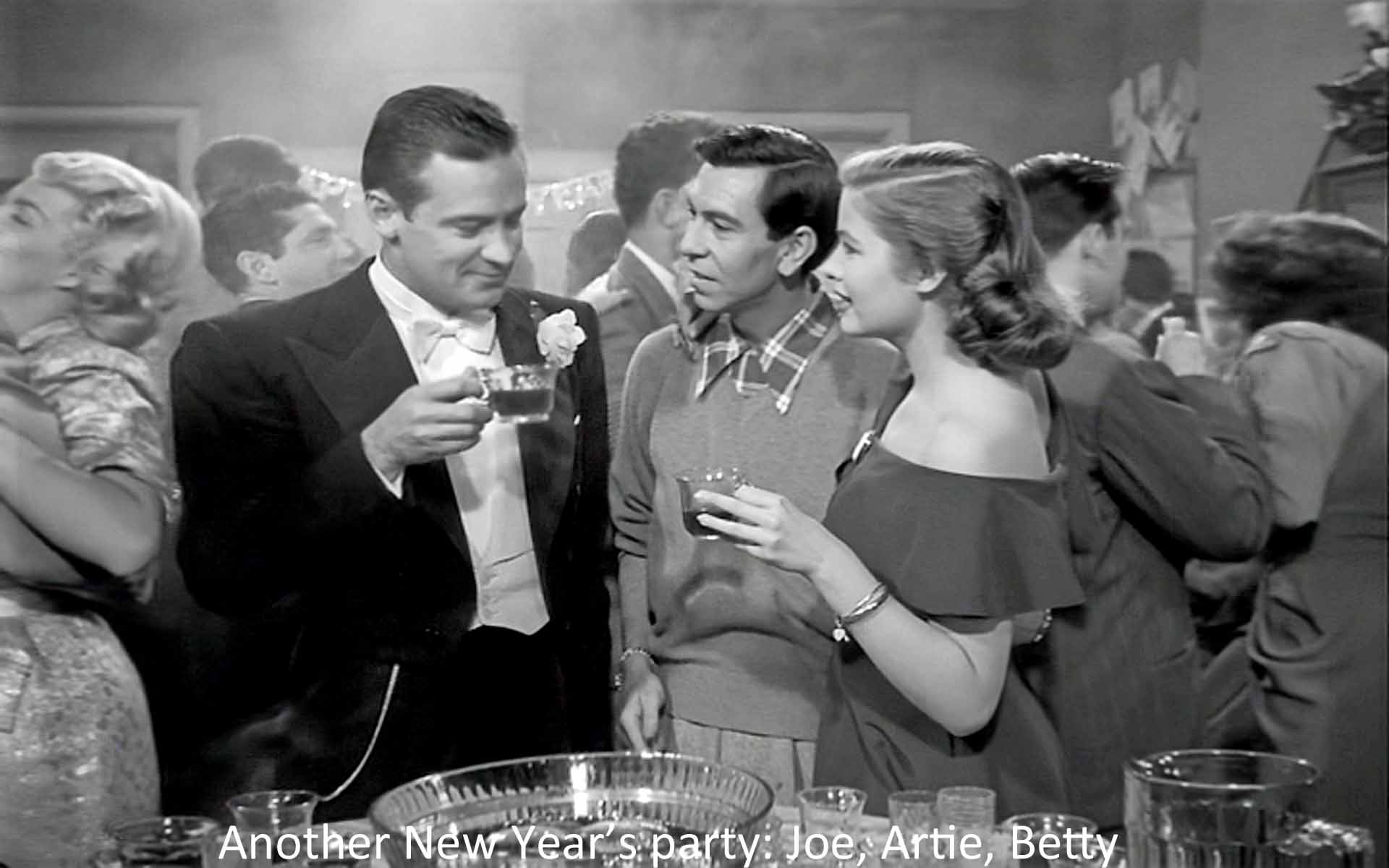 Another New Year's Eve party: Joe, Artie, and Betty