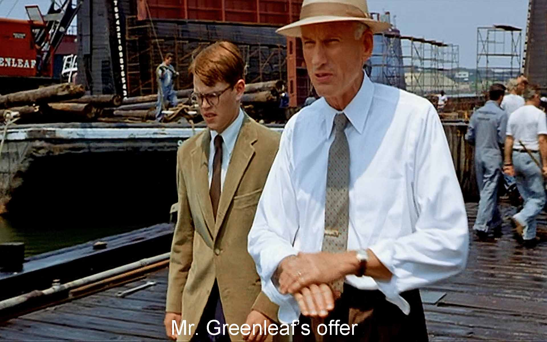 Mr. Greenleaf's offer