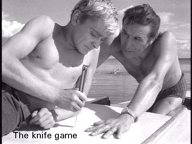 The knife game