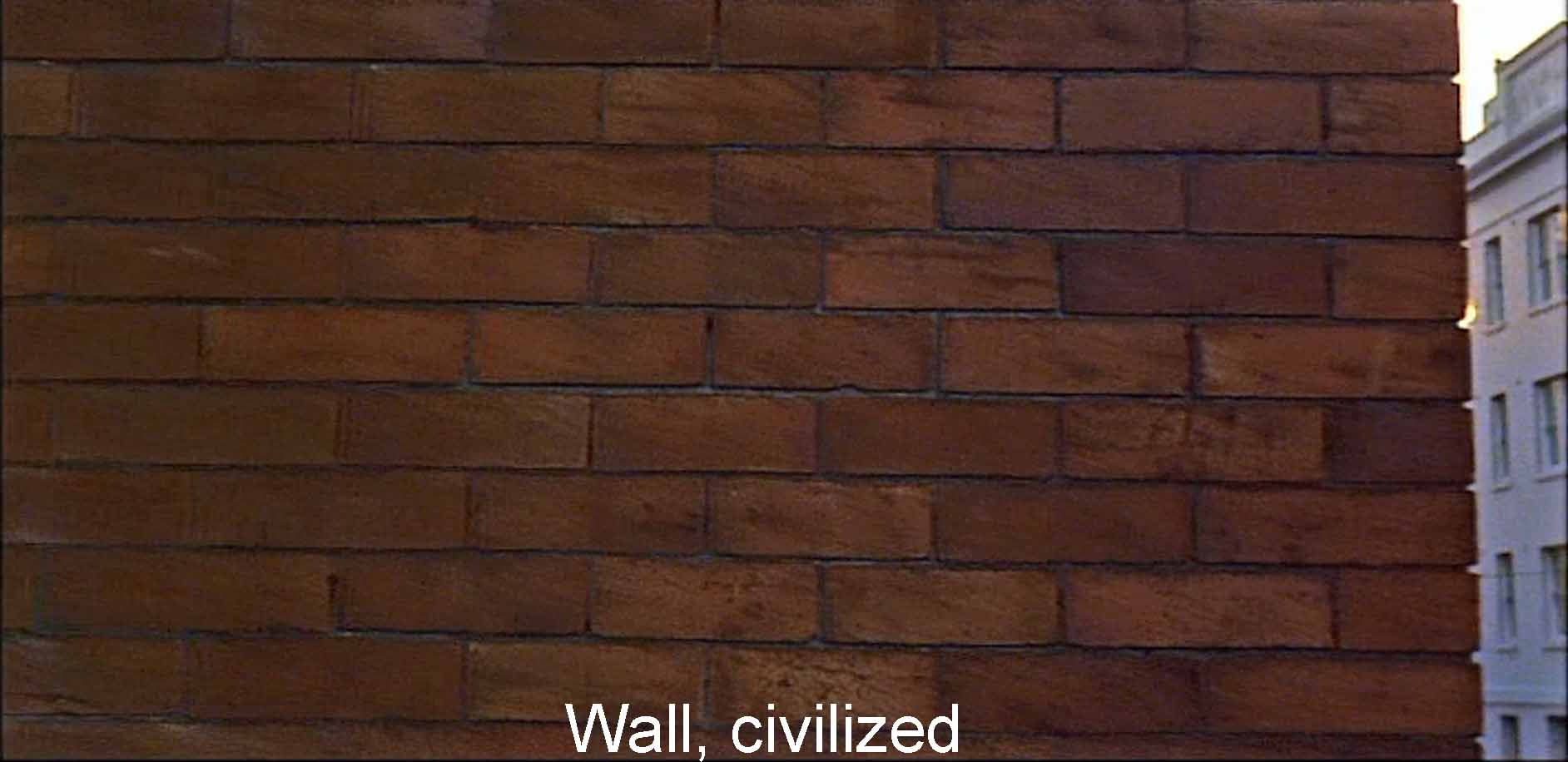 Wall, civilized