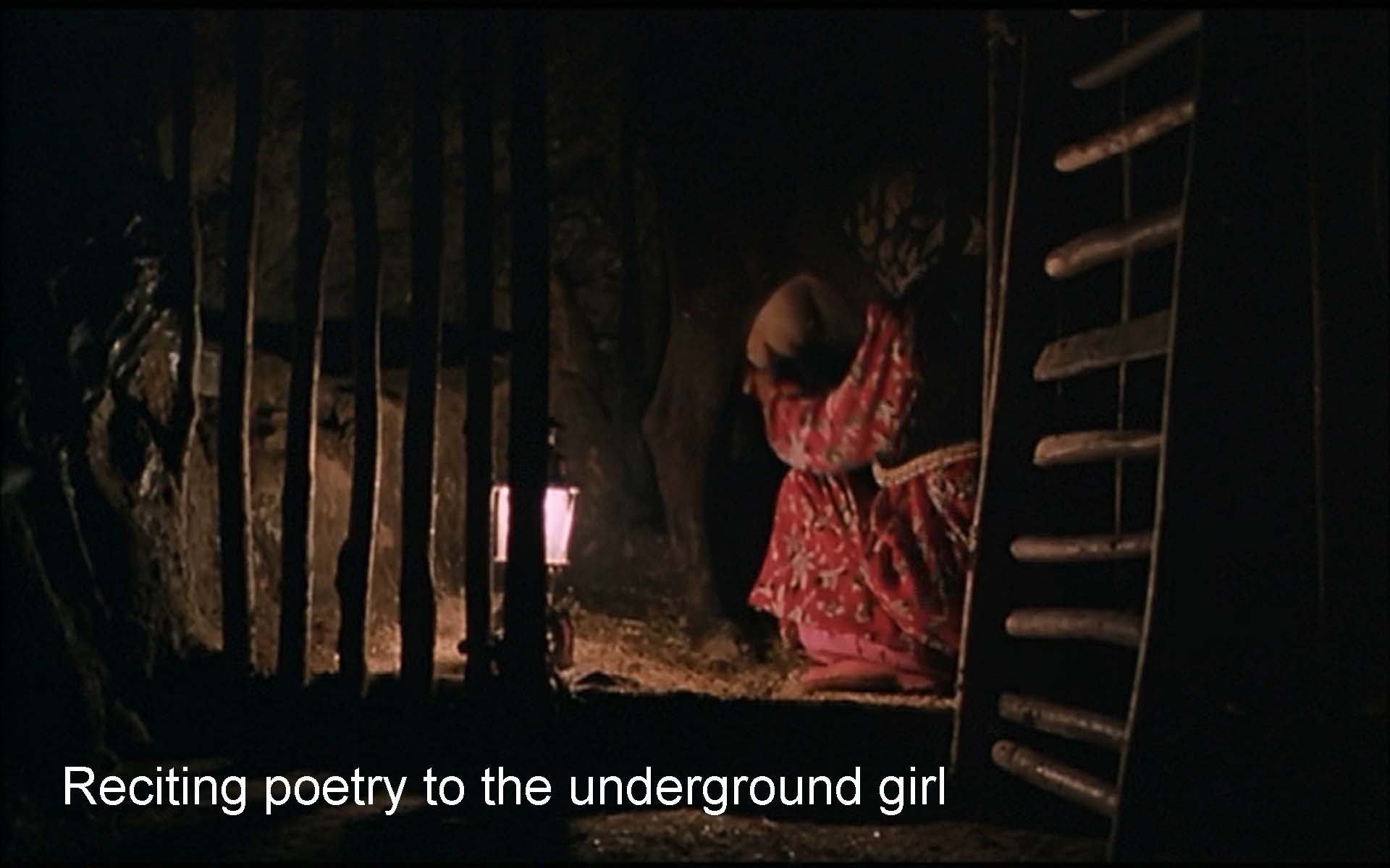 Reciting poetry to the underground girl