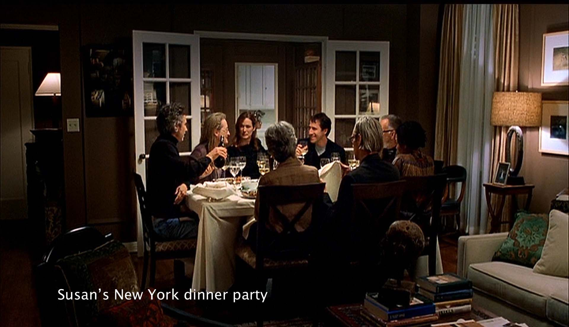 Susan's New York dinner party