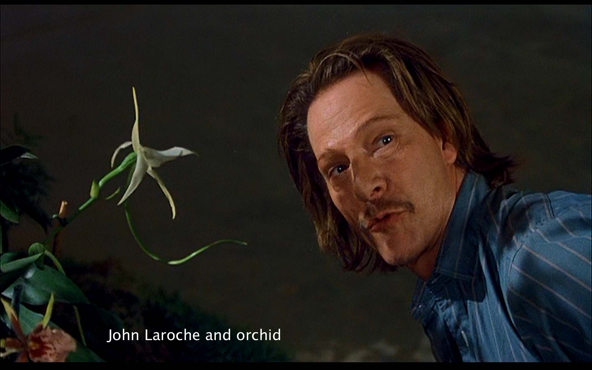 John Laroche and orchid
