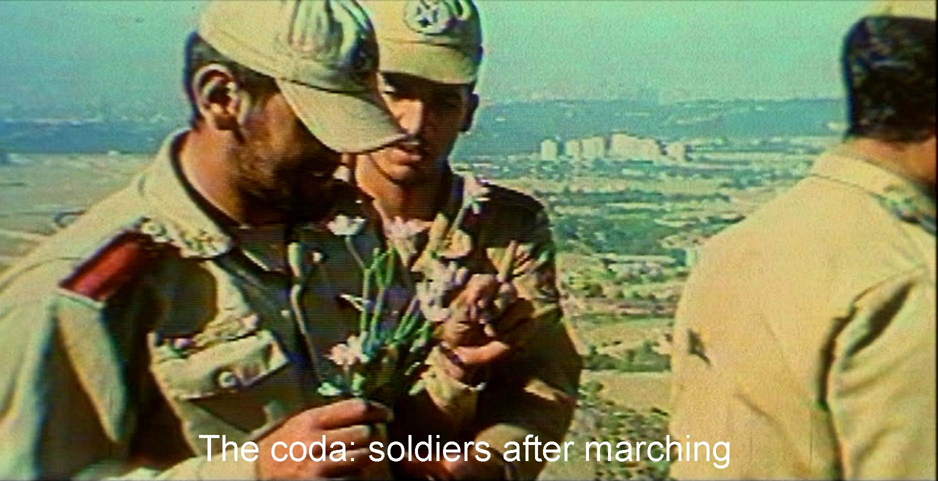 The coda: the soldiers after marching